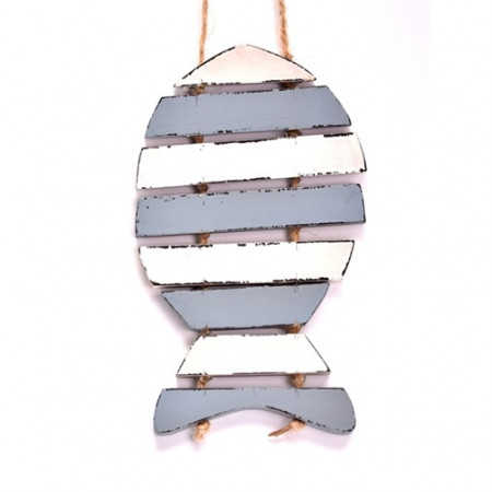 Ornament peste din lemn, cu agatatoare, 19 cm