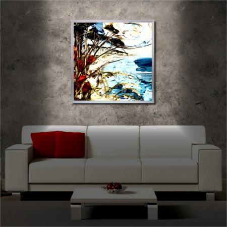 Tablou iluminat LED cu rama metalica Oil Painting (60 x 60 cm)