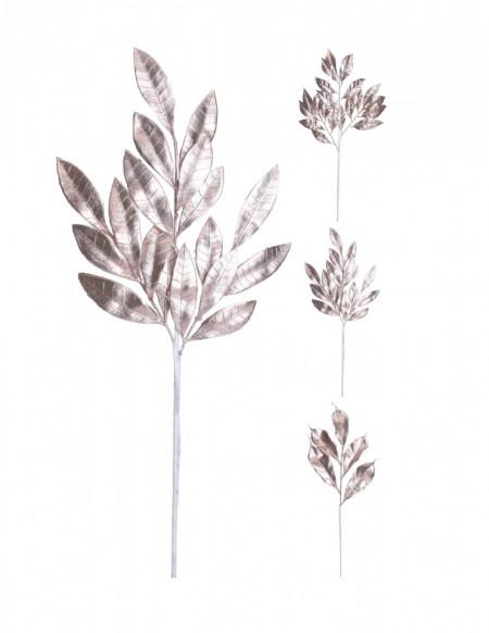 Creanga artificiala, cu frunze, rosegold, 55 cm