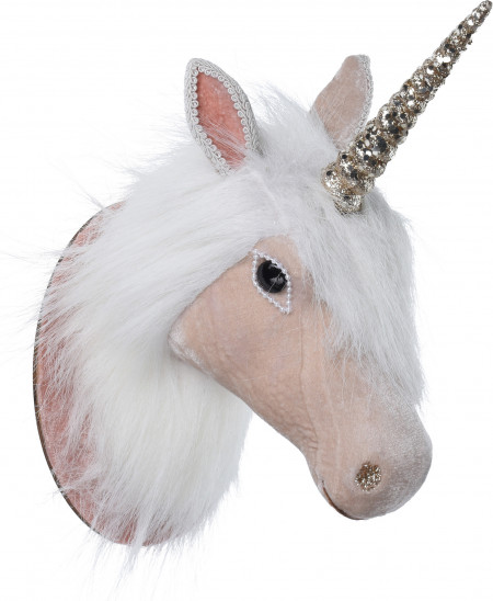 Decoratiune, cap de unicorn, de plus, 30 cm