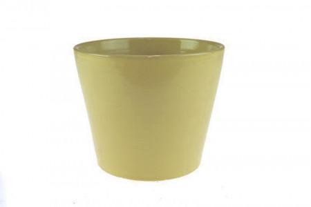 Ghiveci teracota, verde, 11.5x13.5 cm