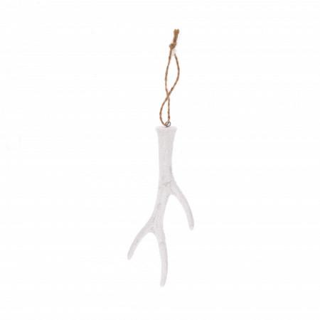 Ornament, coarne albe, 14.5x6.5 cm