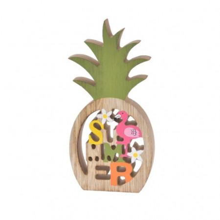 Ornament din lemn, model ananas, 18 cm
