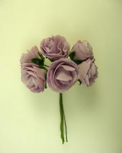 Buchet de trandafiri, lila, spuma