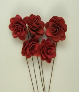 Buchet flori, Akacia, rosu, 6 cm