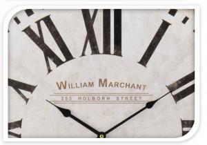 Ceas perete, MDF, William Marchant, alb, 60 cm