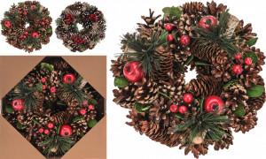 Coronita conuri, ornament toamna, 25 cm