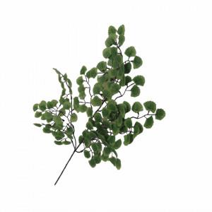 Creanga artificiala, frunze verzi mini, 52 cm