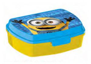 Cutie de plastic pentru sandwich, model Minion, 17x12.5x5 cm