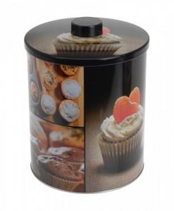 Cutie depozitare metalica, Muffin, 16 cm