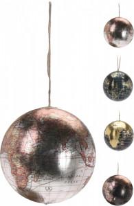 Decoratiune glob pamantesc cu agatatoare, 8 cm