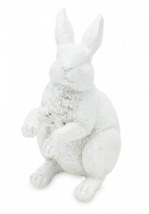 Decoratiune iepuras, alb, 10x5x6,5 cm