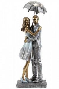 Figurina, cuplu cu umbrela, 31x11 cm