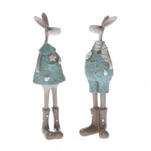 Figurina polirasina, iepuras cu cizme, 18 cm