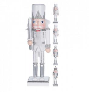 Figurina Spargator de nuci, argintiu, 25 cm