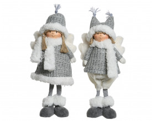 Figurina textila, ingeras copil in picioare, 42 cm