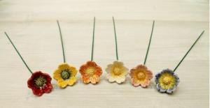 Floare ceramica Trandafir salbatic