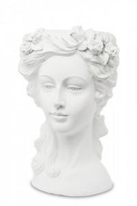Ghiveci chip de femeie, alb, 36 x 22 cm