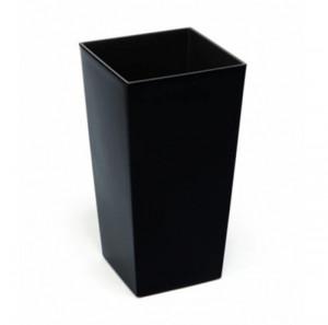Ghiveci de plastic, negru, 36x19 cm