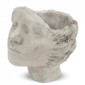 Ghiveci forma cap femeie, 24x17 cm