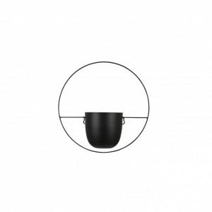 Ghiveci metalic negru, pentru perete, Dexter, 34x14x34 cm