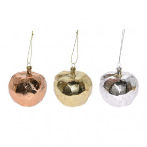 Glob de plastic, forma mar, auriu/argintiu/bronz, 9 cm