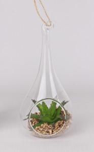 Glob terariu, forma para, cu aranjament artificial, 16.5 cm