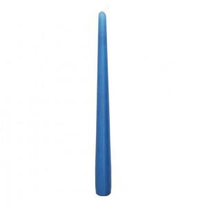 Lumanare, albastru metalizat, lungime 25 cm
