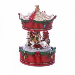 Minicarusel, rosu/verde, 11x17 cm