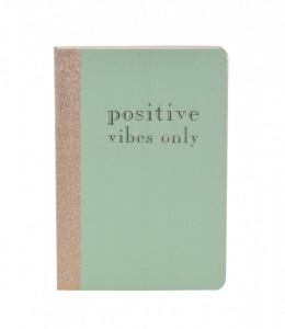 Notebook, coperta verde, 17x12 cm