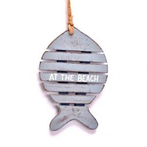 Ornament peste din lemn, cu agatatoare, 12.5 cm