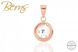 Pandativ, cristale Swarovski, margine rosegold, diametru 10mm