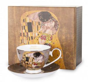Set cana + farfurie portelan, Gustav Klimt