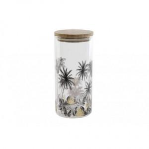 Vas de sticla, capac bambus, 1,4 L