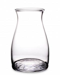 Vaza de sticla transparenta, 30x19x19 cm