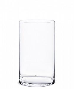 Vaza de sticla, transparenta, 35x20x20 cm