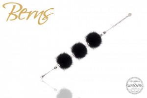 Bratara cristale Swarovski MINK CHERYL black