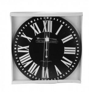 Ceas perete, MDF, William Marchant, negru 60 cm