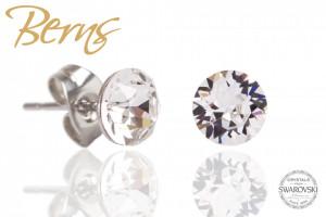 Cercei, cristale Swarovski, diametru 6mm