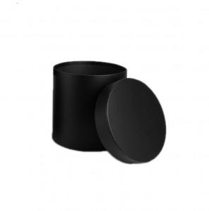 Cutie cilindru, negru mat, 16x17 cm