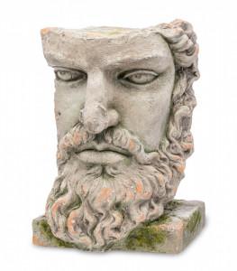 Decoratiune ghiveci personaj antic, gri antichizat, 38x28x34 cm