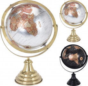 Decoratiune glob pamantesc, cadru metalic, 20 cm