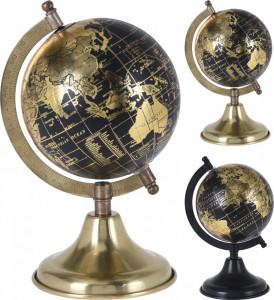 Decoratiune glob pamantesc, cu baza metalica, 12.5 cm