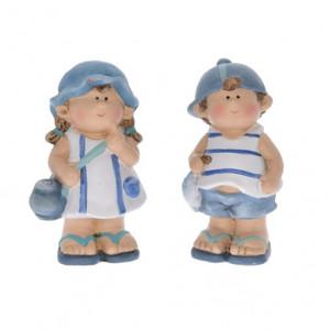 Figurina ceramica, copil, model marin, 13.5 cm