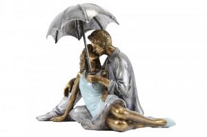 Figurina, cuplu sezut, 15x19x12 cm
