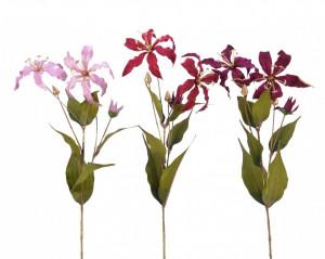 Floare artificiala Crin, 10x28x85 cm
