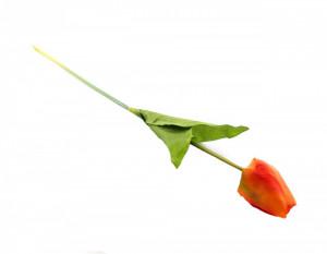 Floare artificiala, fir lalea, portocaliu