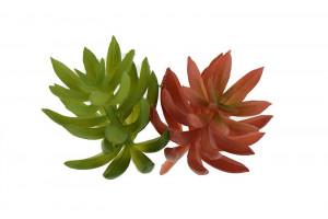 Floare artificiala, suculenta mix, 14x5 cm