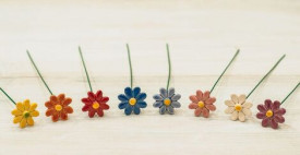 Floare ceramica Margareta mini