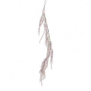 Ghirlanda artificiala bobite, roz deschis, 109 cm